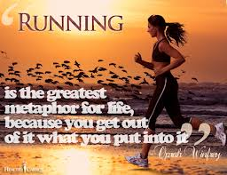 Running, it propels us forward