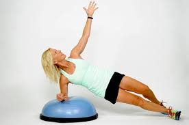 "3  ""Plank"", Abdominal Centered Exercises on the Bosu Balance Trainer"