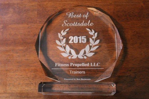 "Fitness Propelled LLC Receives 2015 ""Trainers"" Best Businesses of Scottsdale Award"