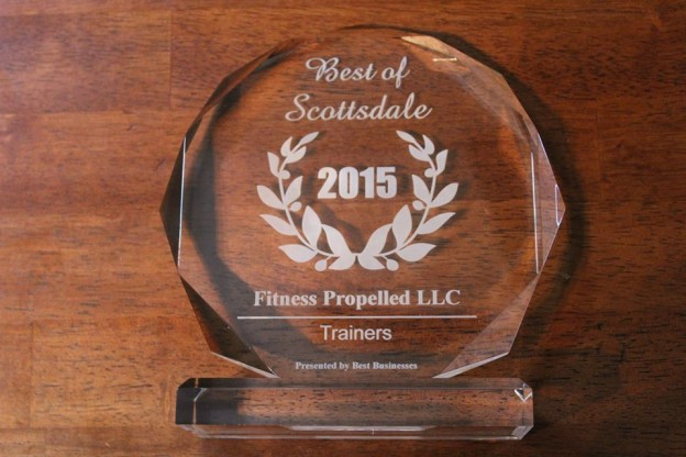 """Fitness Propelled LLC Receives 2015 """"Trainers"""" Best Businesses of Scottsdale Award"""